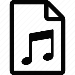 document, file, music icon