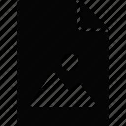 document, file, picture icon