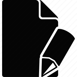 document, file, write icon