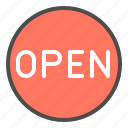 online, open, shop, sign icon