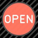 online, open, shop, sign