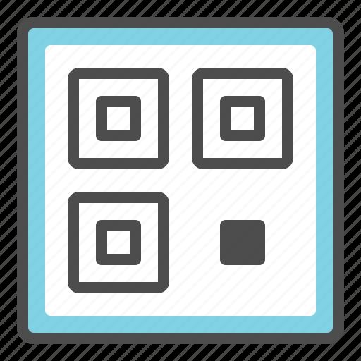 online, qr code, scan, shop icon