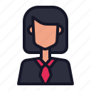 avatar, business, businesswoman, economics, people icon