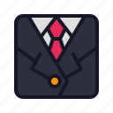 business, coat, economics, uniform icon