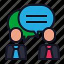 bubble, business, conversation, discussion, economics icon