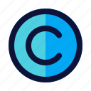 business, copyright, finance icon