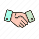agreement, business deal, contract, handshake icon