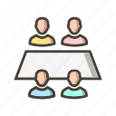 group, team, team work, working team icon