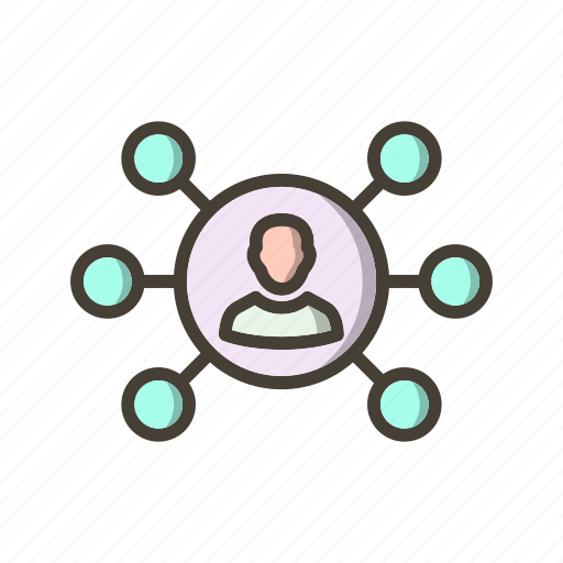 connection, hierarchy, network, sharing icon