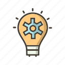 bulb, light, plan, strategy icon