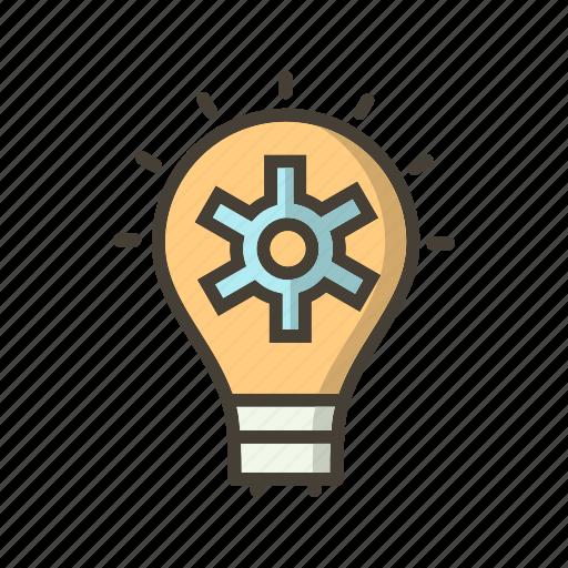 bulb, light, plan, strategy icon