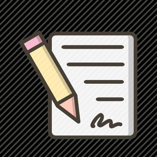 affidavit, agreement, contract, document icon