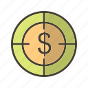 aim, business, goal, target icon