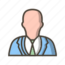 avatar, businessman, profile, user icon