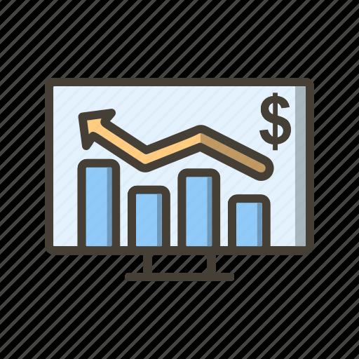 analysis, bar chart, graph, perfomance icon