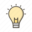 bulb, creative man, creativity, idea icon
