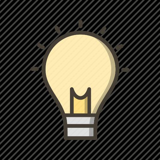 bulb, creative man, creativity, idea icon