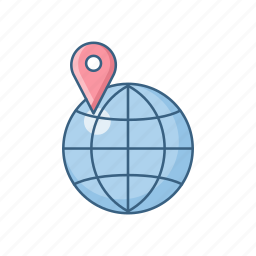 address, country, find, global, locate us, location, world icon