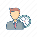 alarm, employee, punctual, target, time, timer icon