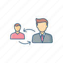 communication, connection, employee, interaction, network