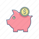 bank, banking, finance, financial, funds, growth, money icon