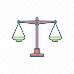 balance, court, justice, legal, measure, scale, wheel icon