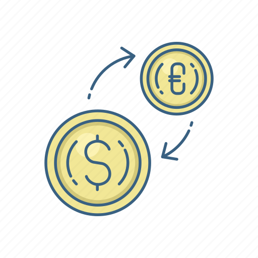 bank, conversion, currency, dollar, euro, finance, money icon