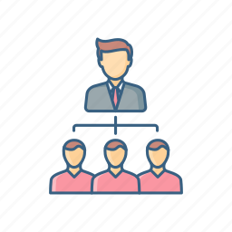 hierarchy, lead, leader, management, organization, structure, team icon