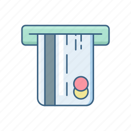 atm, banking, card, money, transaction, withdraw, withdrawal icon