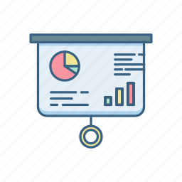 business, conference, display, presentation, projector, screen icon