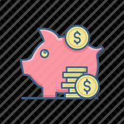 business, finance, fund, funds, save, saving, savings icon