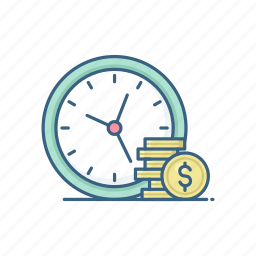 clock, finance, payment, salary, schedule, time, timer icon