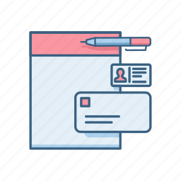 business, card, details, employee, pan, profile, user icon