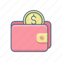 cash, dollar, money, payment, save, savings, wallet icon