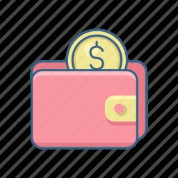 cash, dollar, guardar, money, payment, save, savings, wallet icon