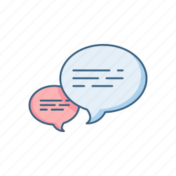 bubble, bubbles, chat, comment, dialogue, sms, text icon