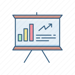 analysis, board, business, diagram, presentation, report, statistics icon