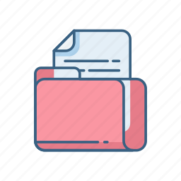 document, file, folder, office, page, paper, sheet icon