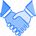 business, deal, hand, handshake, job, partnership, work icon