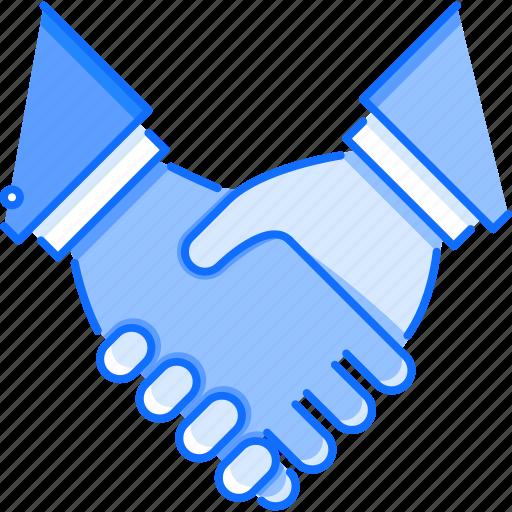 business, deal, hand, handshake, job, partnership, work icon
