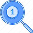 business, coin, job, money, office, search, work icon
