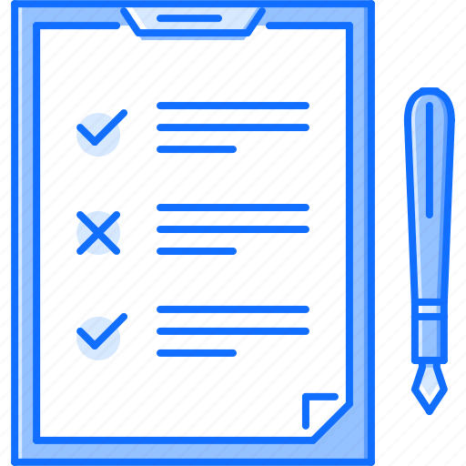 check, document, list, office, pen, tablet, work icon