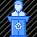 business, conference, job, presentation, press, speech, work