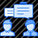 business, conversation, job, office, partner, talk, work icon