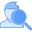 head, hunter, job, man, office, search, work icon