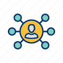 business, network, organization, team icon