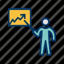 lecture, presentation, statistics icon