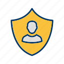 business protection, protection, secure, security icon