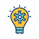 bulb, idea, plan icon