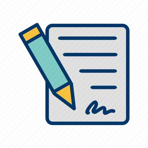 affidavit, agreement, business, contract icon